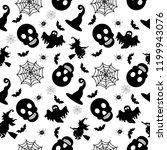 abstract seamless halloween... | Shutterstock .eps vector #1199943076