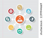 medical and health care icon... | Shutterstock .eps vector #1199944669
