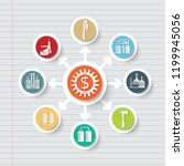 industrial and energy icon info ... | Shutterstock .eps vector #1199945056