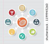 business and strategy icon info ... | Shutterstock .eps vector #1199945260