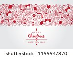 christmas wish with christmas... | Shutterstock .eps vector #1199947870