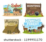 african safari hunting and... | Shutterstock .eps vector #1199951170