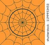 cobweb background. spiderweb... | Shutterstock .eps vector #1199953453