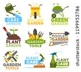 gardening and farming icons ... | Shutterstock .eps vector #1199953786