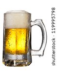 mug fresh beer with cap of foam ... | Shutterstock . vector #119995798