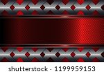 geometric abstract red... | Shutterstock .eps vector #1199959153