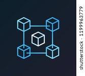 fintech and blockchain vector... | Shutterstock .eps vector #1199963779