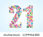 vector colorful floral 21... | Shutterstock .eps vector #1199966380