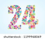 vector colorful floral 24... | Shutterstock .eps vector #1199968069