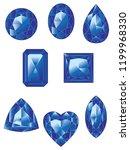 precious gemstones  crystals of ... | Shutterstock .eps vector #1199968330
