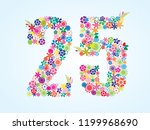 vector colorful floral 25... | Shutterstock .eps vector #1199968690