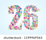 vector colorful floral 26... | Shutterstock .eps vector #1199969563
