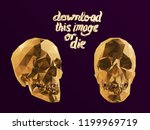 cursed gold vector low poly... | Shutterstock .eps vector #1199969719