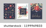 set of christmas and happy new... | Shutterstock .eps vector #1199969833