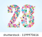 vector colorful floral 28... | Shutterstock .eps vector #1199970616