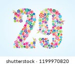 vector colorful floral 29... | Shutterstock .eps vector #1199970820