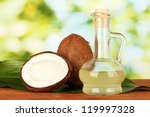 Decanter With Coconut Oil And...
