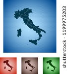 map of italy | Shutterstock .eps vector #1199975203