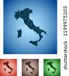 map of italy   Shutterstock .eps vector #1199975203