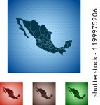 map of mexico | Shutterstock .eps vector #1199975206