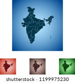 map of india | Shutterstock .eps vector #1199975230