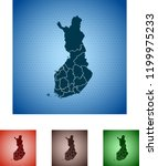 map of finland | Shutterstock .eps vector #1199975233