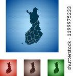 map of finland   Shutterstock .eps vector #1199975233