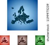 map of europe   Shutterstock .eps vector #1199975239
