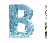 Water Alphabet isolated on white background (Letter B) - stock photo