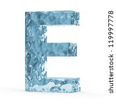 Water Alphabet isolated on white background (Letter E) - stock photo