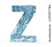 Water Alphabet isolated on white background (Letter Z) - stock photo