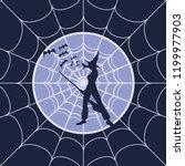 cobweb background. spiderweb... | Shutterstock .eps vector #1199977903