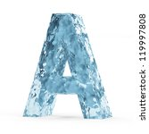 Water Alphabet isolated on white background (Letter A) - stock photo