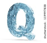 Water Alphabet isolated on white background (Letter Q) - stock photo