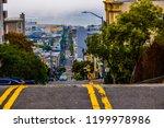 san francisco road leading down ... | Shutterstock . vector #1199978986