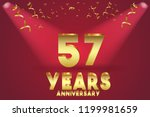 57th anniversary numbers.... | Shutterstock .eps vector #1199981659