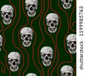 horror seamless pattern with...   Shutterstock .eps vector #1199985763