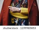 street style fashion details.... | Shutterstock . vector #1199985853