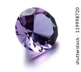 Purple Diamond On White...