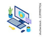 digital data protection ... | Shutterstock .eps vector #1199987926