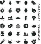 solid black flat icon set loaf... | Shutterstock .eps vector #1199991499
