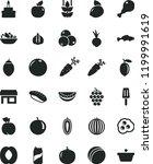 solid black flat icon set bath... | Shutterstock .eps vector #1199991619