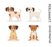 group of dogs icons | Shutterstock .eps vector #1199997856