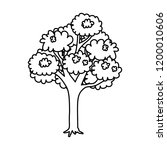 tree plant isolated icon   Shutterstock .eps vector #1200010606