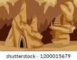 underground cave landscape.... | Shutterstock .eps vector #1200015679