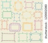 Set Of Vector Doodle Frames
