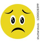 worried face icon | Shutterstock . vector #1200028399