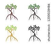 mangrove tree icon set | Shutterstock .eps vector #1200028486