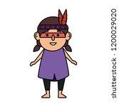 thanksgiving indigenous girl...   Shutterstock .eps vector #1200029020