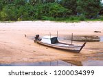 fisherman's fishing boat parked ... | Shutterstock . vector #1200034399